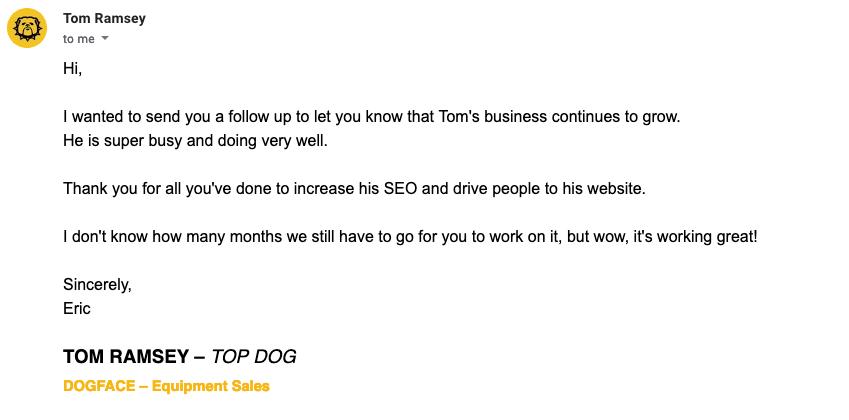 Dogface Equipment success story