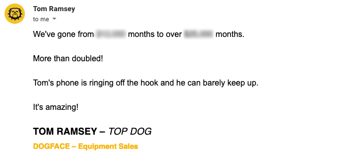 Dogface equipmeent Success Story